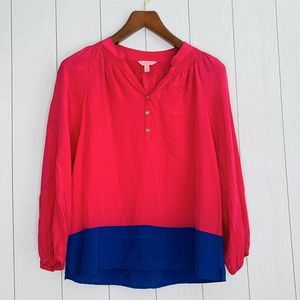 Lilly Pulitzer Women Size S Pink Long Sleeve Top